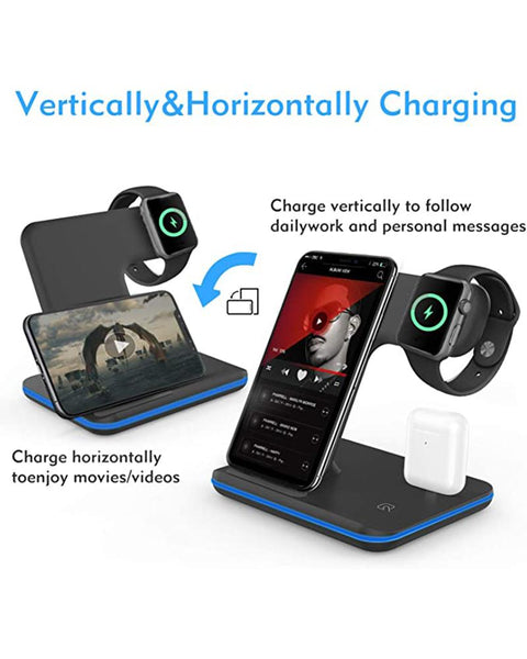 3 in 1 Wireless Fast Charging Station