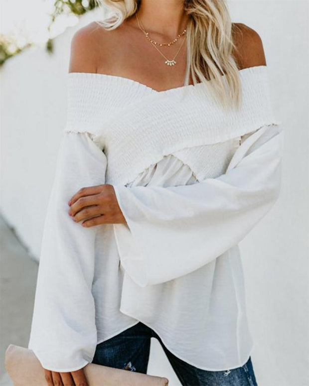 Off-shoulder Ruffled Blouse