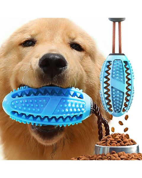 Dog Treat Toy Food Dispensing Training Ball Tooth Cleaning