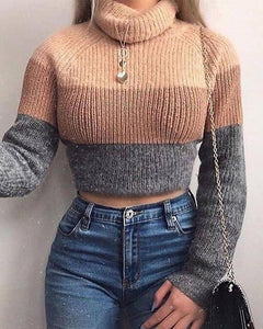 High Neck Long Sleeve Sweater