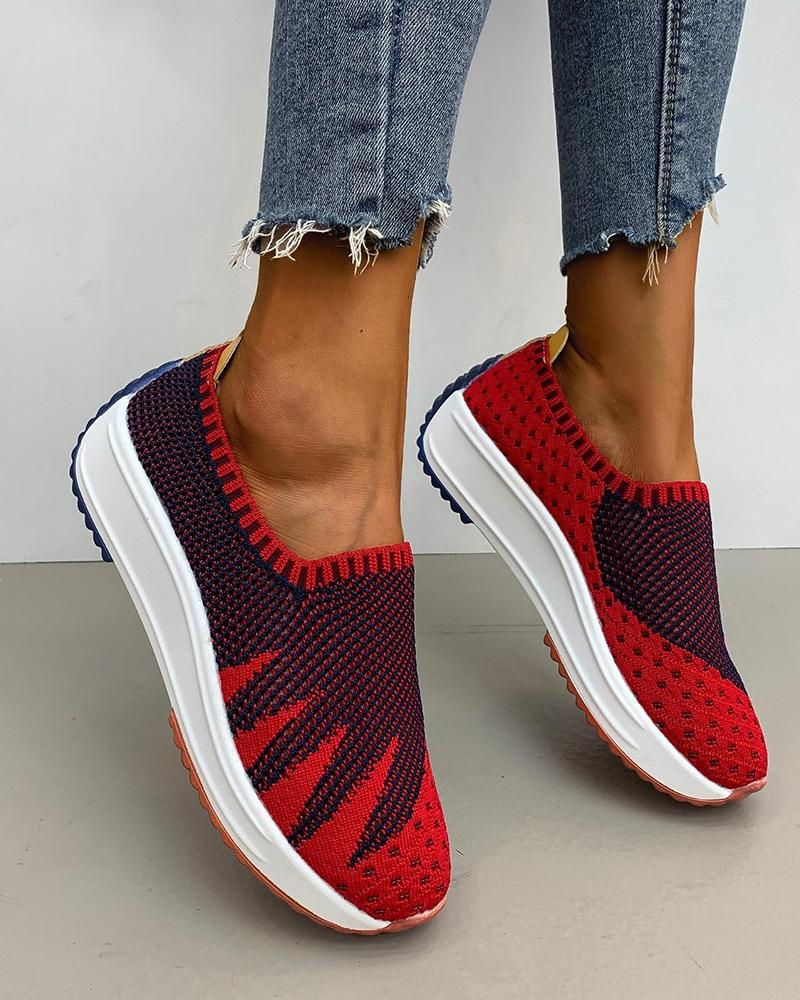 Colorblock Mesh Maple Breathable Sneakers