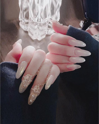 Waterproof Jelly Chain Nail Tip