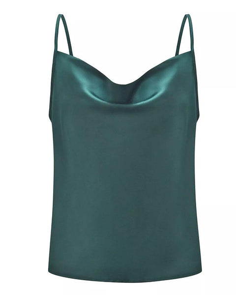 Solid Sling Vest Bottoming Silk Chiffon Tops