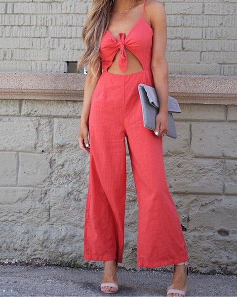 Sexy Suspenders Fake Two-piece Strap Jumpsuit