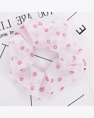 Floral Print Hair Scrunchies
