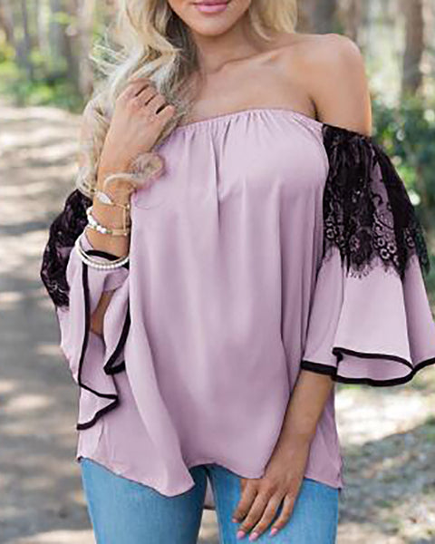 Off Shoulder Casual Blouse