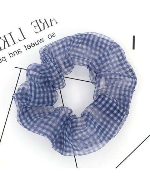 Plaid Print Hair Scrunchies