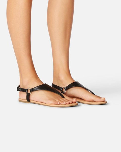 Open Toe Cut-out Flat Sandals