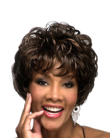 Synthetic Fiber Short Curly Wig