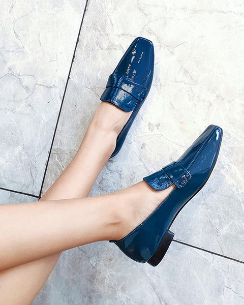 Polished Square Toe Loafers