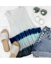 Tie Dye Multicolor Sleeveless T-shirt