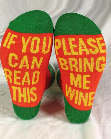 Letter Printing Color Block Socks