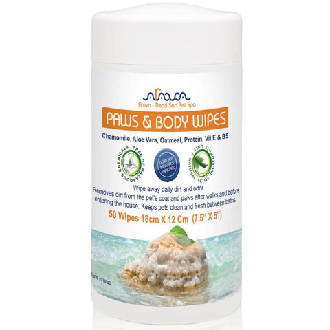 Arava Paw and Body Wipes for Dogs & Cats front