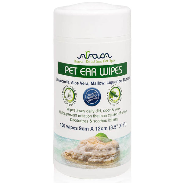 Arava Ear Wipes for Dogs and Cats front