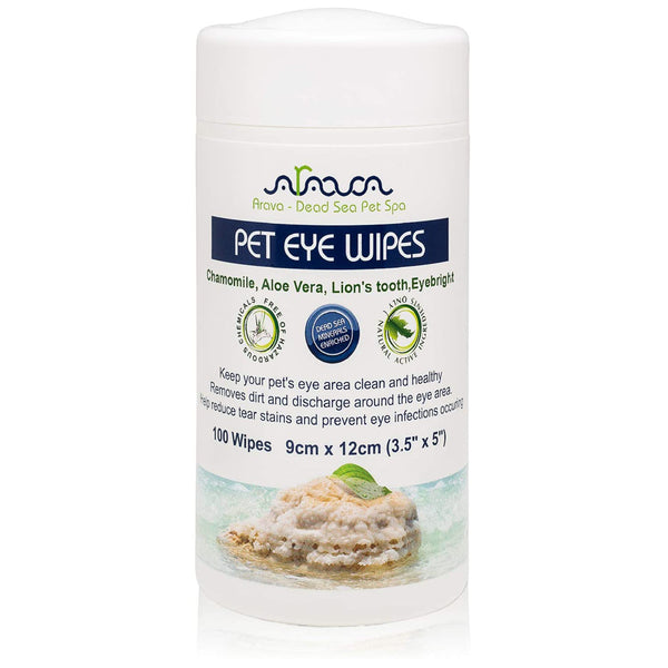 Arava Pet Eye Wipes for Dogs & Cats front