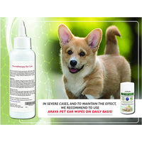 Arava Pet Ear Wipes For Dogs & Cats