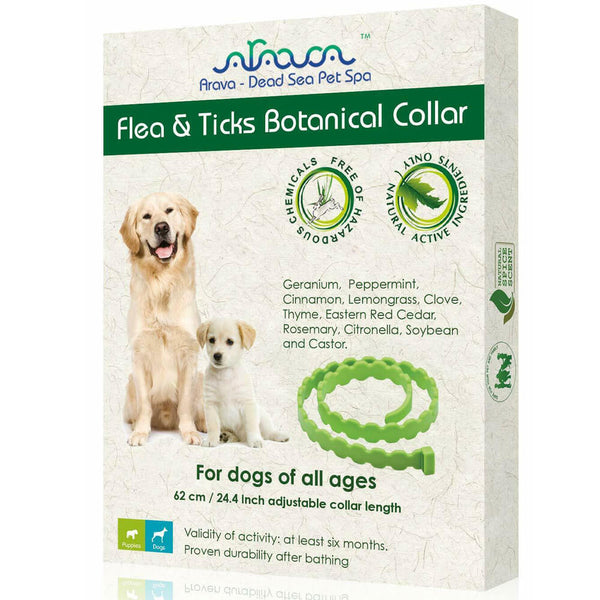 Arava Flea and Tick Collar for Dogs front