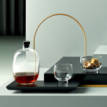Load image into Gallery viewer, Glass Decanter with Wooden Tray