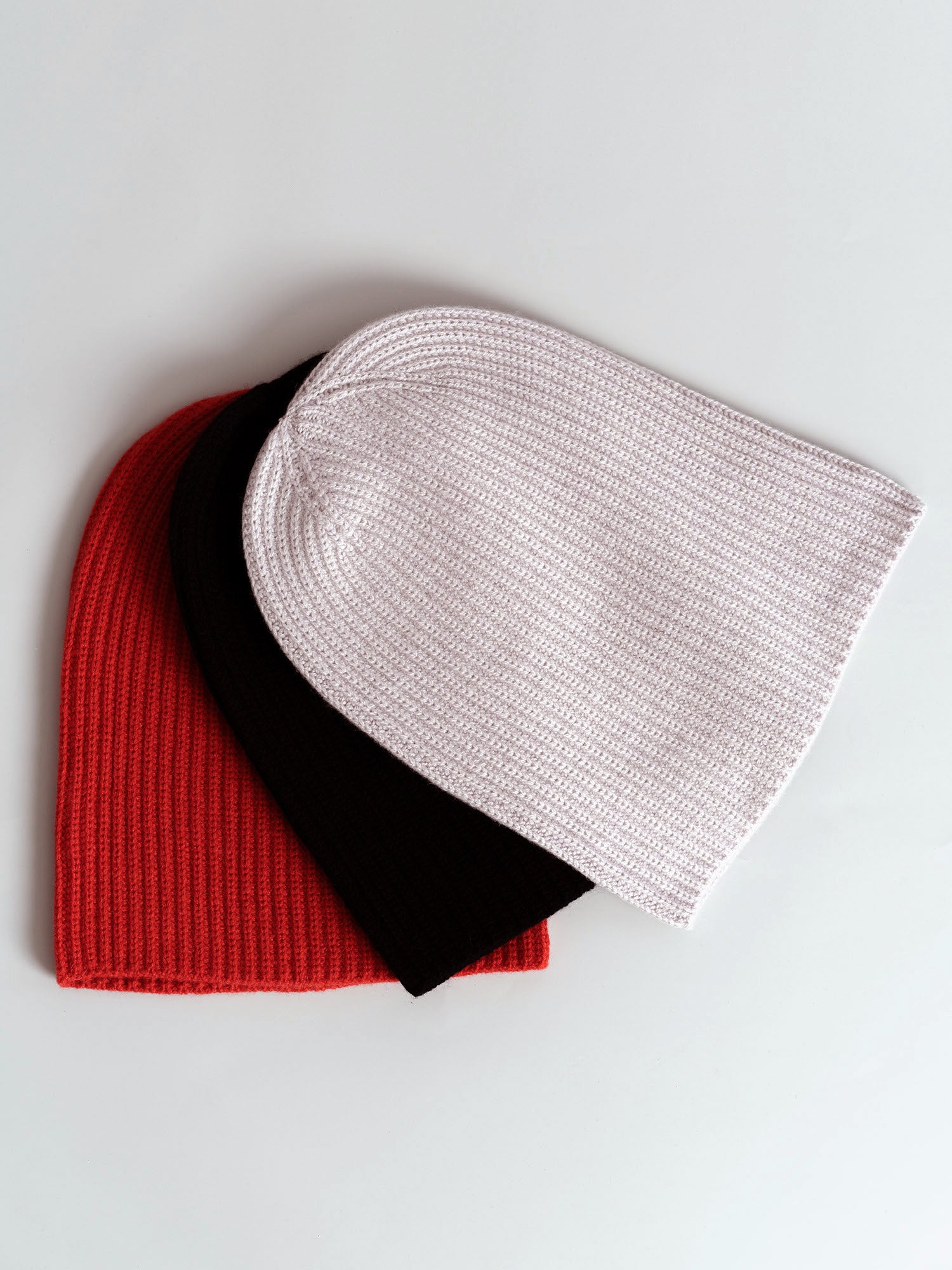 Cashmere Ribbed Knit Beanie