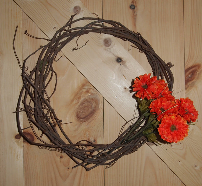 Spring Grapevine Wreath - Splash of Color Flowers