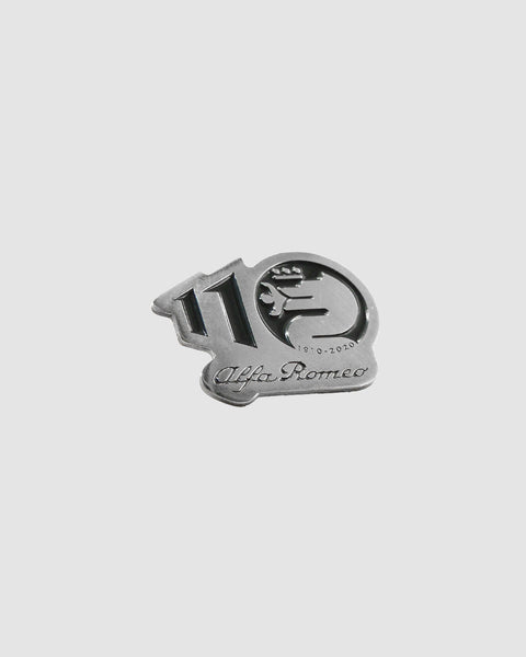 Alfa Romeo Pin Logo 110 Years Black