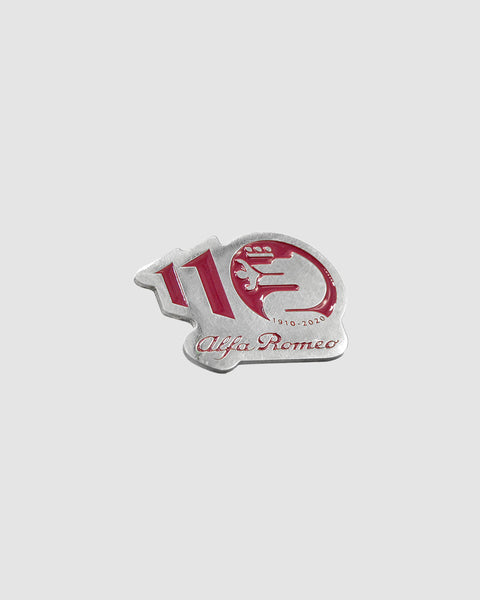 Alfa Romeo Pin Logo 110 Years Red