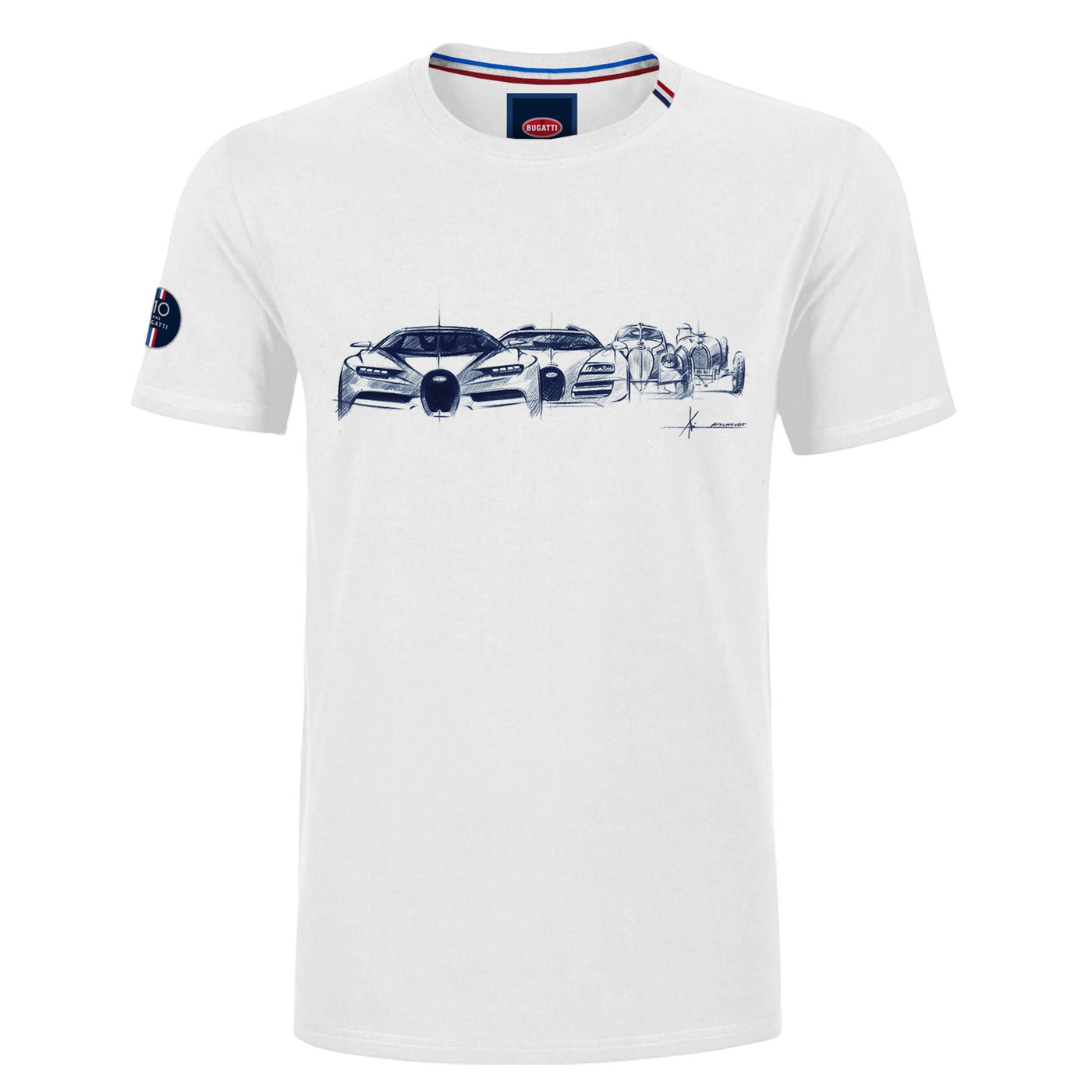 "Bugatti ""Evolution"" T-Shirt Man White"