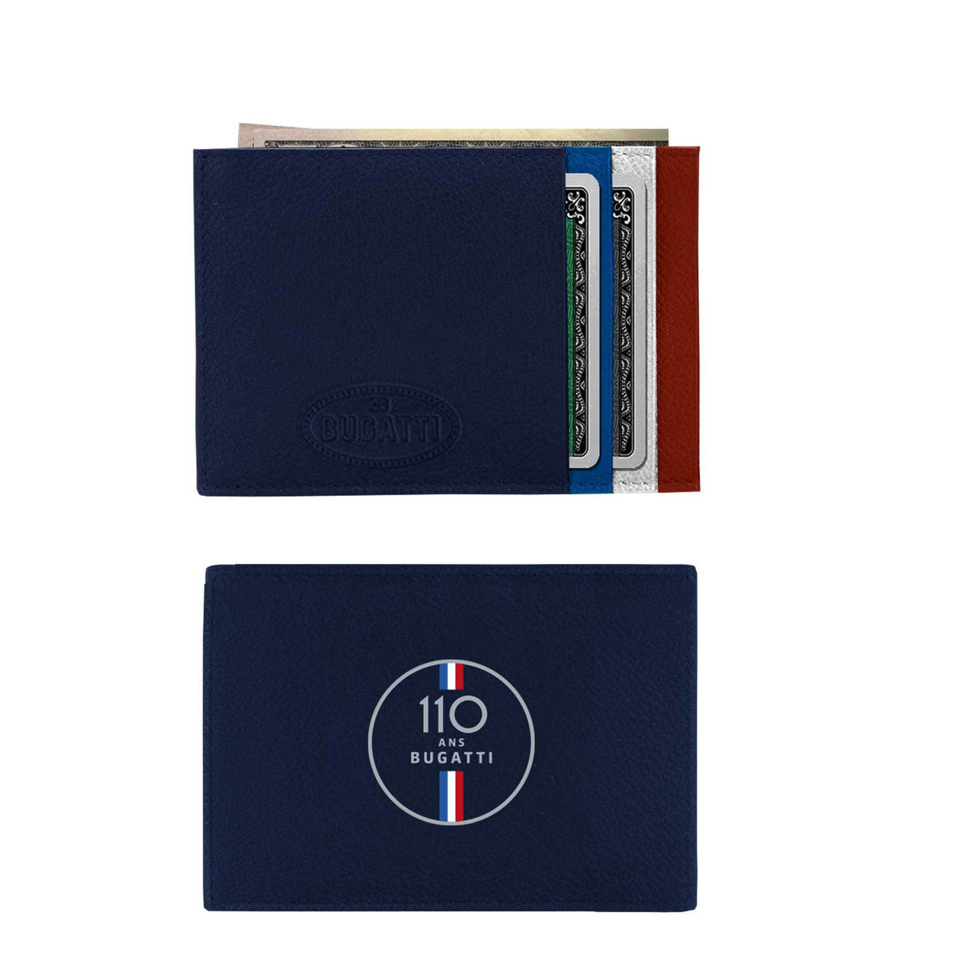 "Bugatti ""110 Ans"" Leather Cardholder"