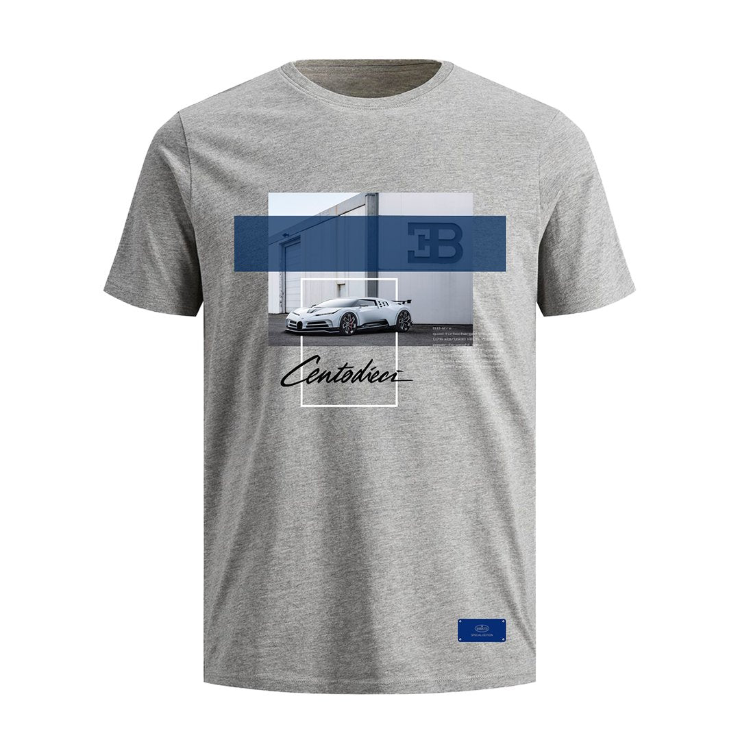 """Bugatti Automobiles"" 110 Car T-Shirt Grey - Special Edition"