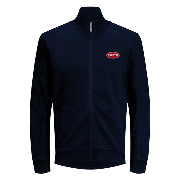 """Bugatti Automobiles"" Full Zip Macaron Sweatshirt Dark Blue"