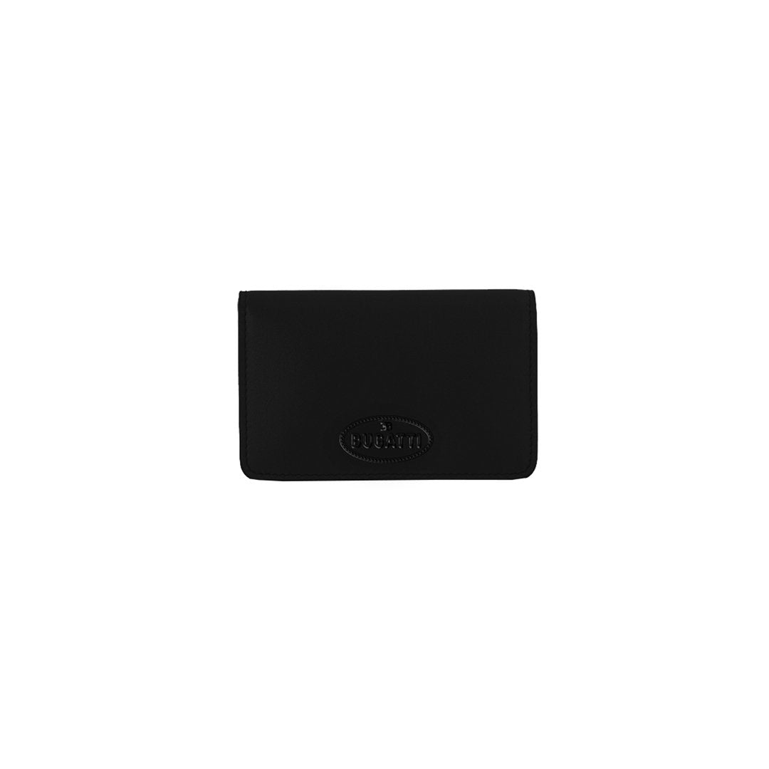 """Bugatti Automobiles"" Macaron RFID Credit Card Holder Black"
