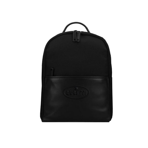 """Bugatti Automobiles"" Leather Backpack Black"
