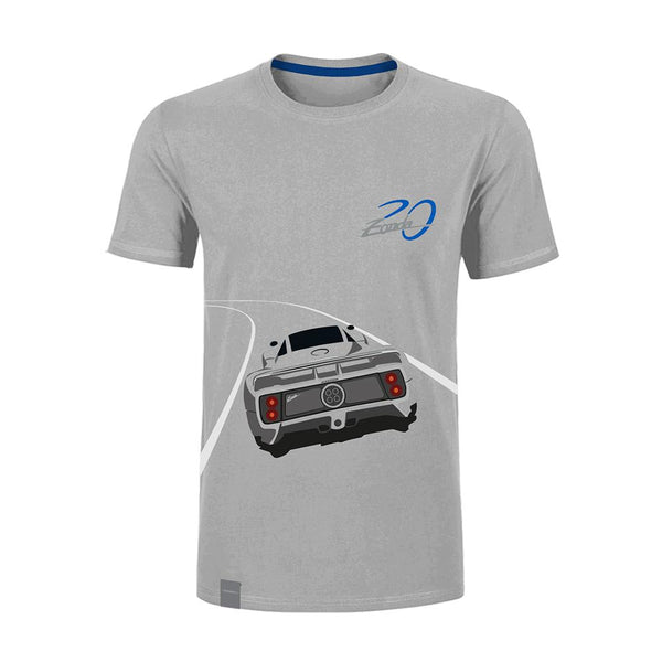 "Pagani ""Zonda 20Th"" Anniversary Logo T-Shirt Man Grey"