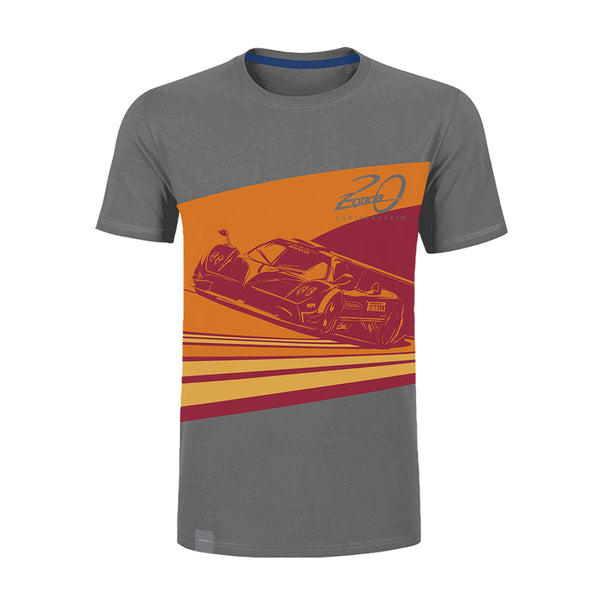 "Pagani ""Zonda 20Th"" Revolucion T-Shirt Man  Grey"