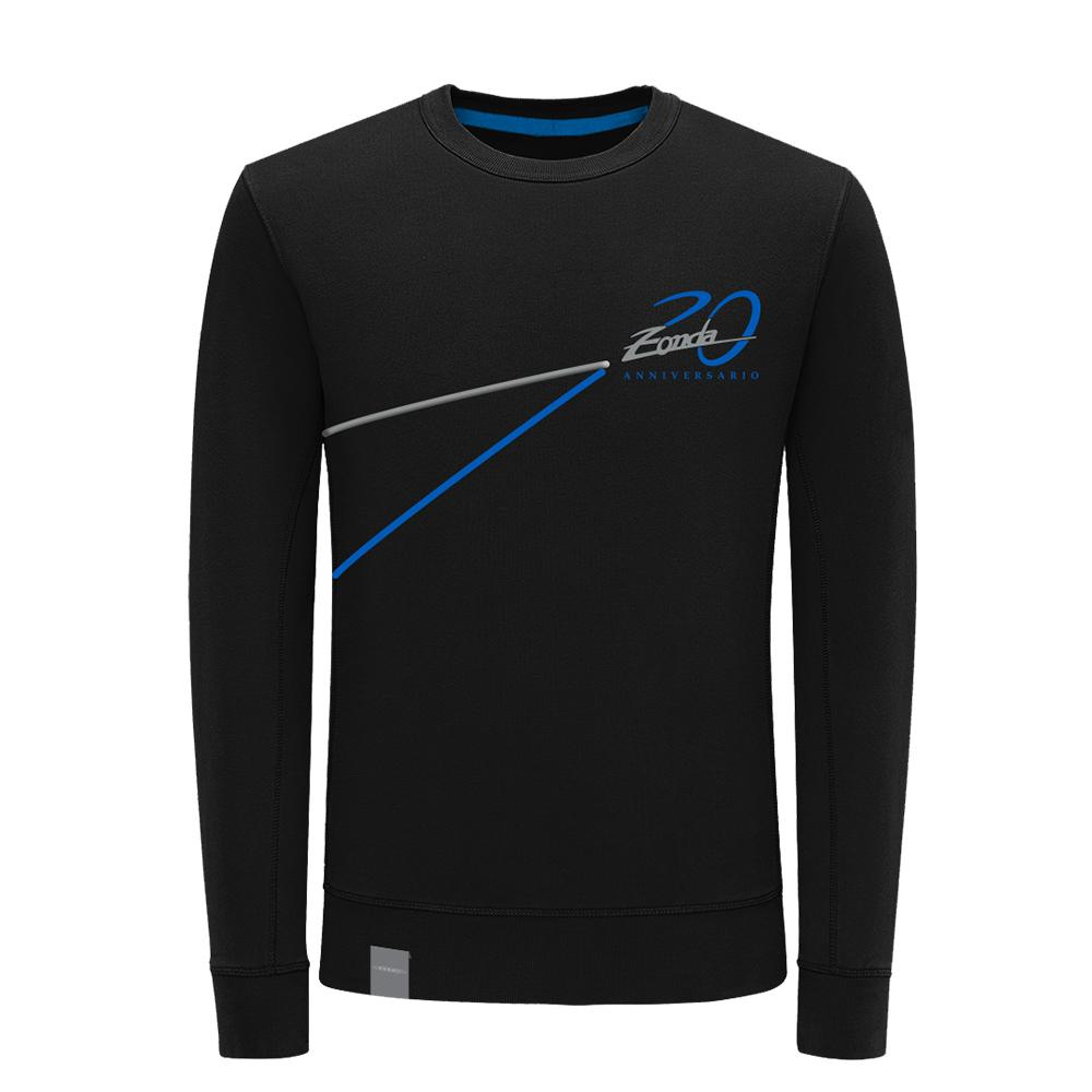 "Pagani ""Zonda 20Th"" Anniversary Logo Sweatshirt Man Black"