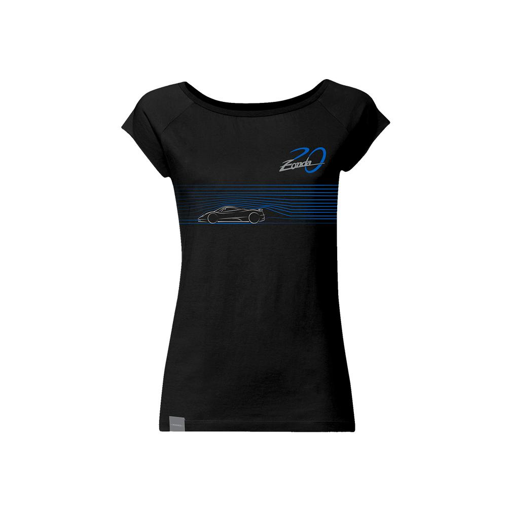 "Pagani ""Zonda 20Th"" C12 T-Shirt Woman Black"