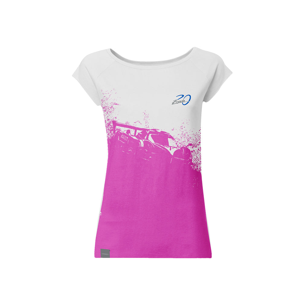 "Pagani ""Zonda 20Th"" Revolucion T-Shirt Woman Fuxia & White"