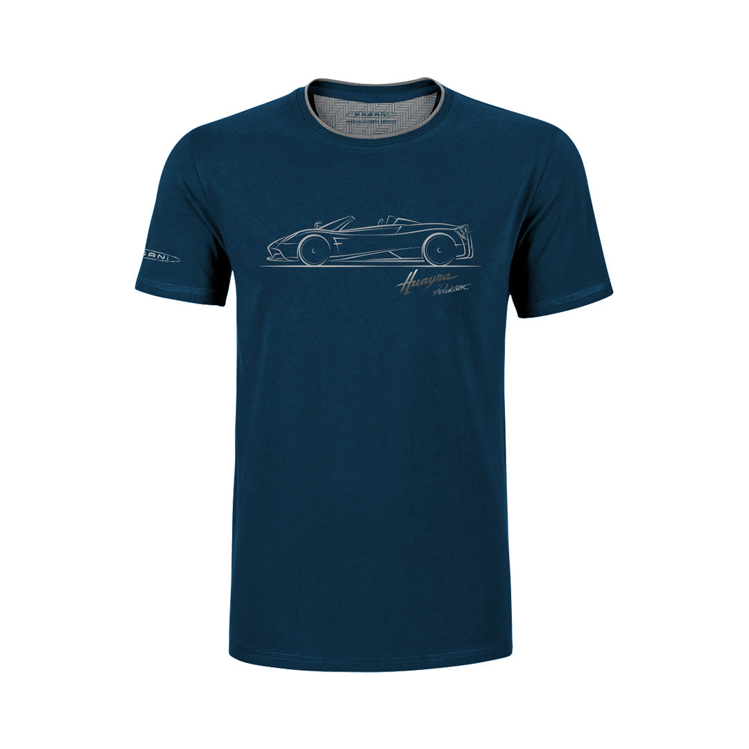 "Pagani ""Huayra Roadster"" T-Shirt Man Blue"