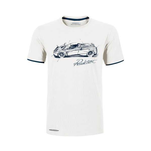 """Huayra Roadster"" T-Shirt Print Man White"