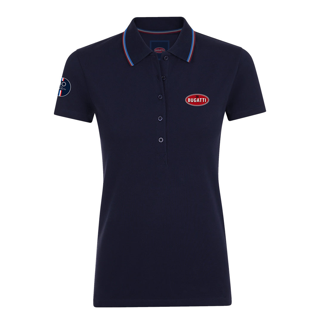 "Bugatti ""110 Ans"" Polo Woman Blue Navy"