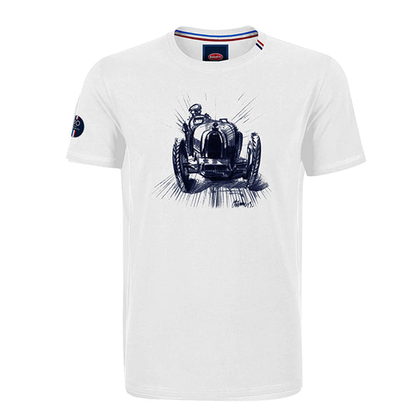 """T10"" T-Shirt Man White"