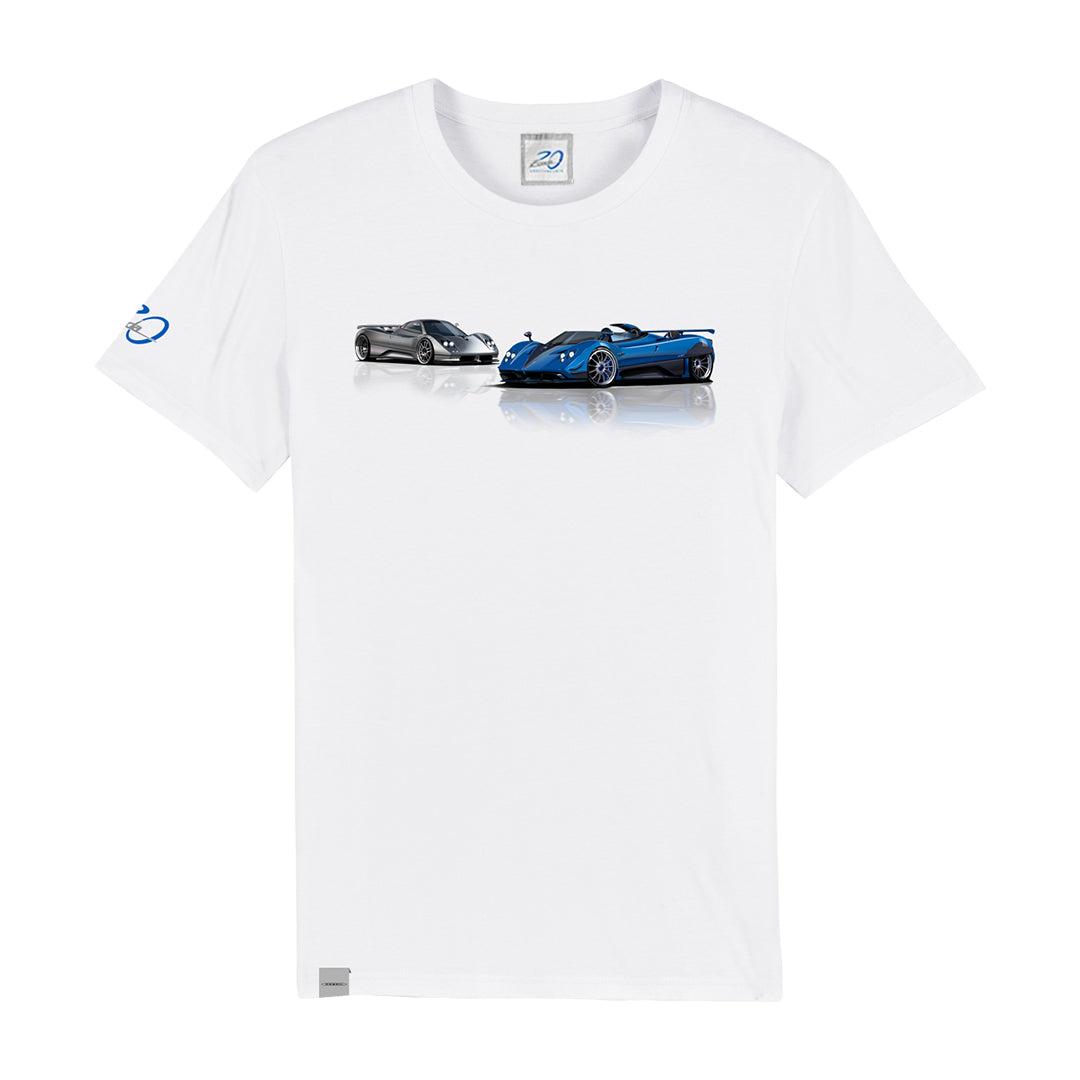 "PAGANI ""BARCHETTA 20TH"" T-SHIRT MAN WHITE"