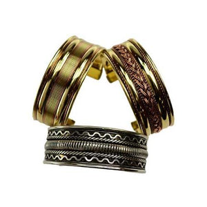 "1"" Assorted Two Tone Bracelet - Nakhti By Kali J.N.S"