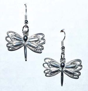 "1"" Dragonfly Earrings - Nakhti By Kali J.N.S"