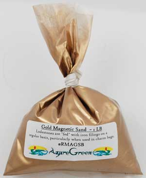 1 Lb Gold Magnetic Sand (lodestone Food) - Nakhti By Kali J.N.S