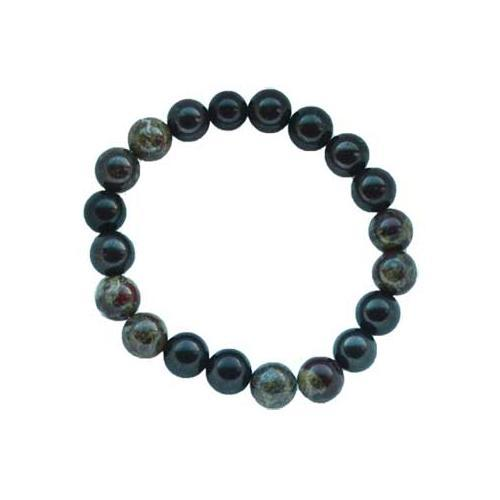 10mm Shungite With Asst Stones Bracelet - Nakhti By Kali J.N.S