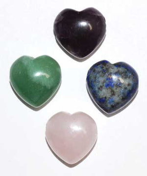 15mm Heart Beads Various Stones (2-pk) - Nakhti By Kali J.N.S