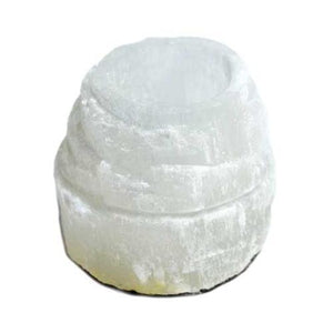 "2 1-2"" Selenite Iceberg Tealight Holder - Nakhti By Kali J.N.S"