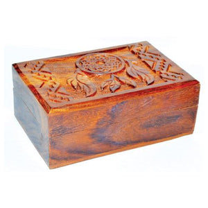 "4"" X 6"" Dream Catcher Wood Box - Nakhti By Kali J.N.S"