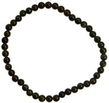 4mm Black Obsidian Stretch Bracelet - Nakhti By Kali J.N.S